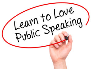 To improve public speaking and presentation skills