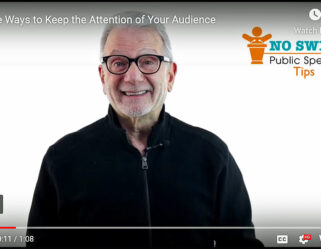 Three ways to keep the attention of your audience.